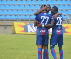 Unión Magdalena en el partido ante Real San Andres.