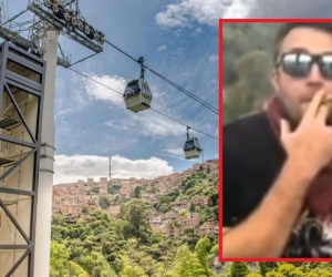 Turista consume marihuana en metro cable