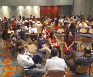 En el marco de la socialización los asistentes, participaron en un taller en el que se entregó información de sensibilización sobre la importancia de cuidar la salud mental.