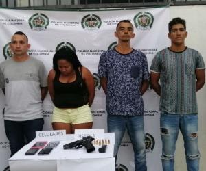 Los capturados fueron presentados por la Policía de Santa Marta.