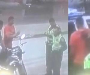 La captura quedó registrada en un video de cámaras de seguridad.
