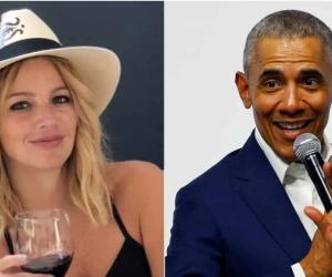Johana Bahamón y Barack Obama