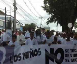 Manifestaciones en Buenaventura por el homicidio de la menor.