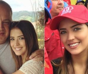 Diosdado Cabello, político venezolano chavista, y su hija Daniela.