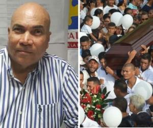 Director de la seccional de Fiscalía del Magdalena, Vicente Guzmán y momentos del sepelio de Nataly.