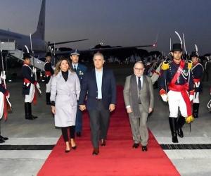 El Presidente Iván Duque a su llegada a territorio argentino.