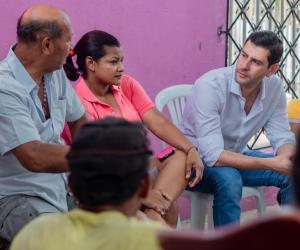 El 'Mello' estuvo en los barrios de la antigua Comuna 2 de Santa Marta.