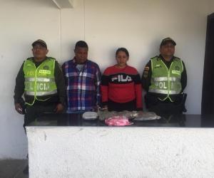 Rusell Ojeda Silva y Tiani Andreina Ariño Domínguez, capturados.