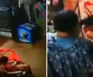 El hombre que aparece en el video con la niña habría aceptado su responsabilidad.