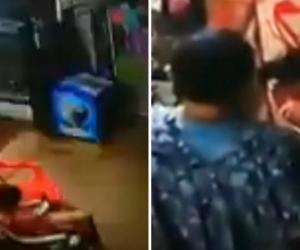 Cámaras de seguridad captaron al hombre presuntamente involucrado en el crimen de la menor.