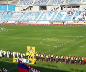 Partido entre Unión y Jaguares en el primer semestre.