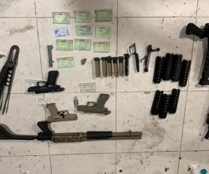Las armas eran traídas de los Estados Unidos para las bandas criminales.