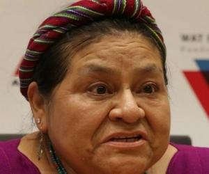 La nobel de paz guatemalteca Rigoberta Menchú.