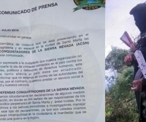 El panfleto que circula virtualmente se lo adjudica la organización Conquistadores de la Sierra Nevada.
