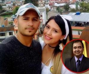 Imitador Richard Cardona con su fallecida esposa - Fiscal general (e) Fabio Espitia