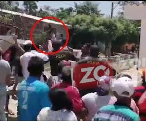 Protesta en Pedraza