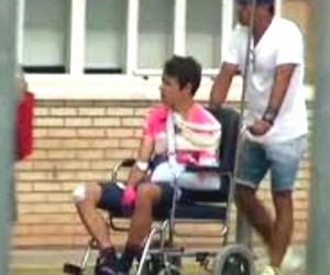 Rigoberto Urán lesionado.