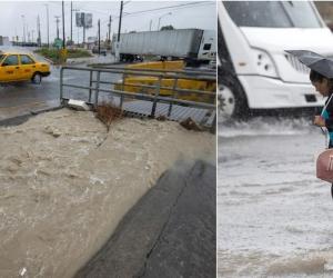 Lluvias en el norte de México por la tormenta Fernand.