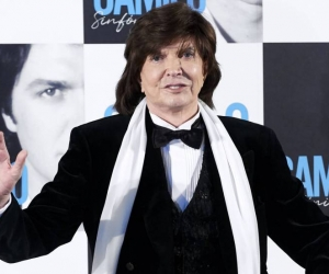 Camilo Sesto durante al presentación de su último disco Camilo Sinfónico