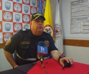 El comandante del Cuerpo de Bomberos de Santa Marta, capitán Ricardo Chaín.