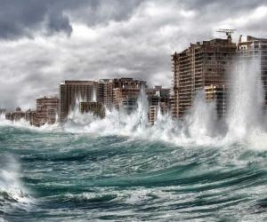 Simulación de inundación en Miami