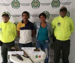 Albeiro Ruiz Fernández y Karen Varela De la Hoz, capturados en Tucurinca.
