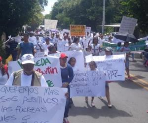 Protestas en Guachaca - imagen de referencia.