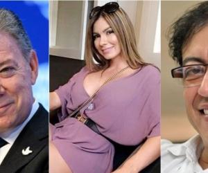 Juan Manuel Santos, Esperanza Gómez y Gustavo Petro.