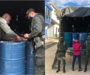 Más de dos toneladas de sustancias químicas incautadas y una persona capturada en sur del país.