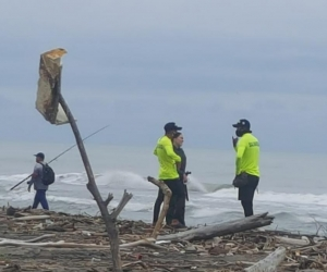 Lugar donde fueron encontrados los restos óseos, en Puerto Colombia.