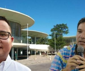 Juan Carlos Palacio (der), concejal de Santa Marta, dijo que iba a denunciar al secretario de Infraestructura.