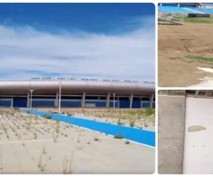 Así de abandonado y deteriorado luce el estadio Sierra Nevada.