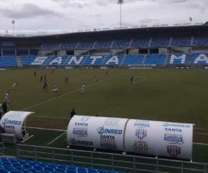 Con poca luz finalizó el partido del Unión Magdalena en el Sierra Nevada.