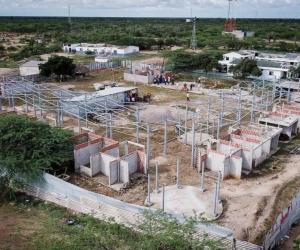 Proyecto de vivienda inconcluso en La Guajira.