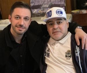 Matías Morla y Diego Maradona.