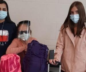Algunas de las colombianas que tuvieron que regresar a Colombia.