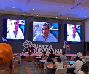 Rafael Correa, expresidente de Ecuador, participó en la segunda convención de Fuerza Ciudadana.
