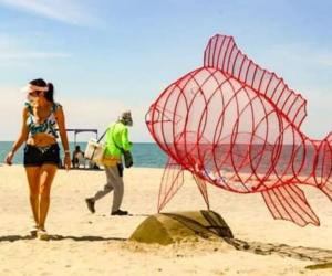 Contenedores instalados en playas de Bello Horizonte.