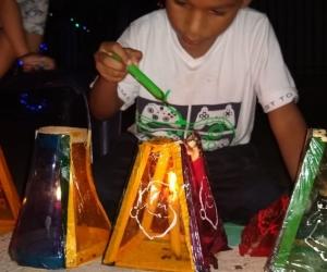 Celebración del Día de las Velitas en Santa Marta