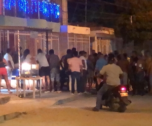 Homicidio perpetrado en el barrio Villa del Carmen, en la noche de este viernes.