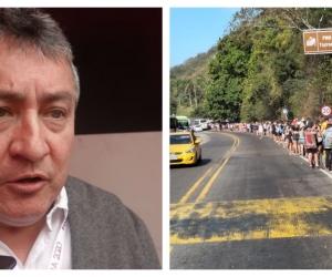 Omar García y las largas filas para entrar al Parque Tayrona