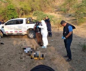 Este fue el lugar donde encontraron uno de los cuerpos.