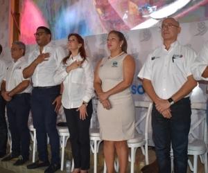 Foto de contexto del gabinete saliente de la Gobernación del Magdalena.
