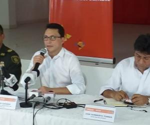 Rueda de prensa de las autoridades sobre el caso de Maicol Mateo Montes.