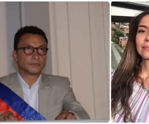 Carlos Caicedo firmó el contrato con la activista Cathy Juvinao.