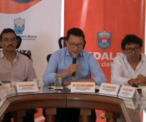 Rueda de prensa del gobernador del Magdalena, Carlos Caicedo