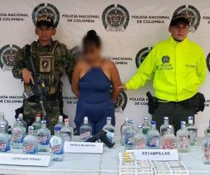 Mujer capturada en el municipio de Ciénaga