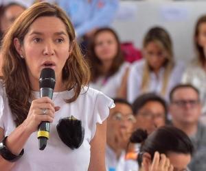 La Ministra de Minas y Energía, María Fernanda Suárez Londoño