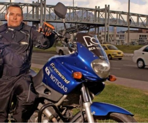 Efraín Arce, patrullero de noticias RCN