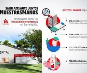Bavaria y el Banco Itaú anuncian hospital de emergencia para Barranquilla.